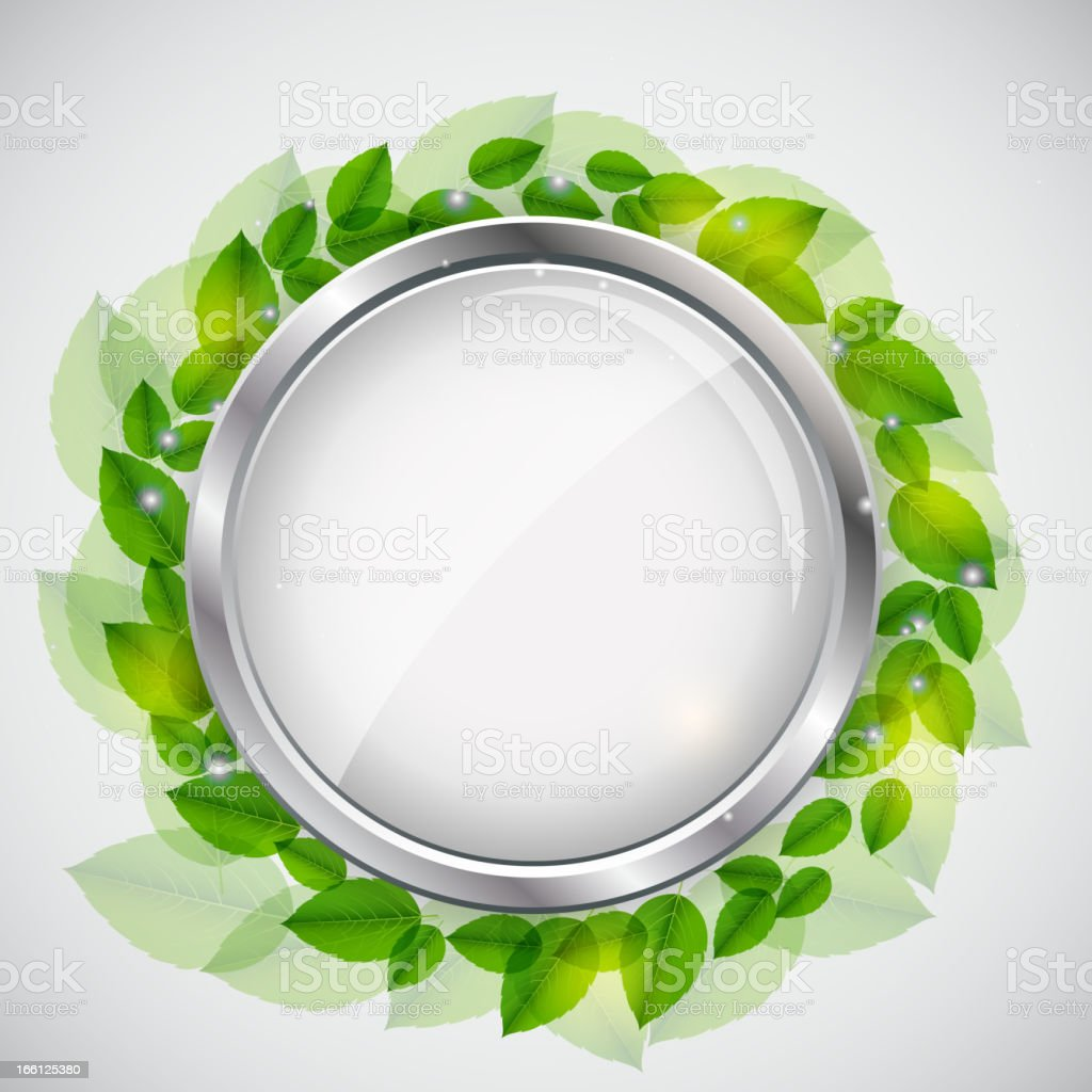 Abstract nature background with leaves. Vector illustration royalty-free stock vector art