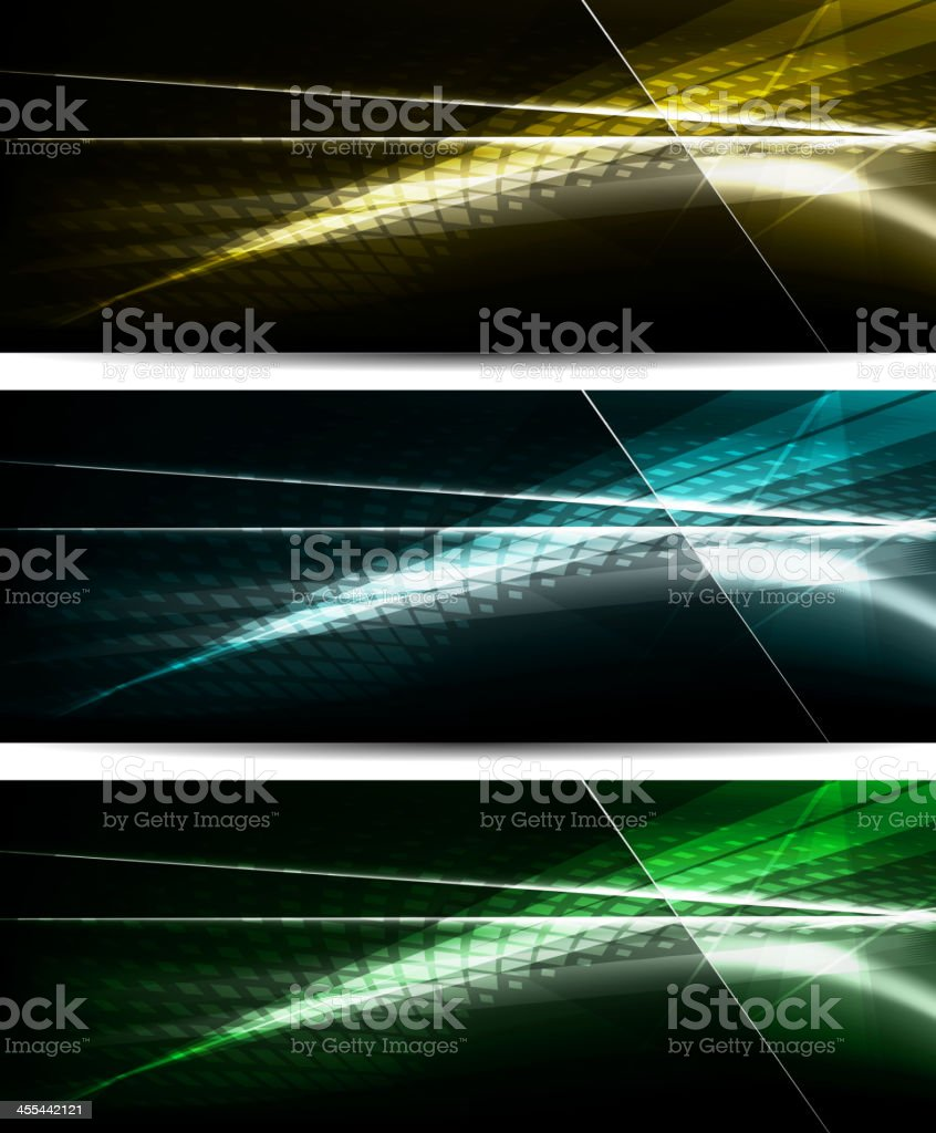Abstract neon banners set royalty-free stock vector art