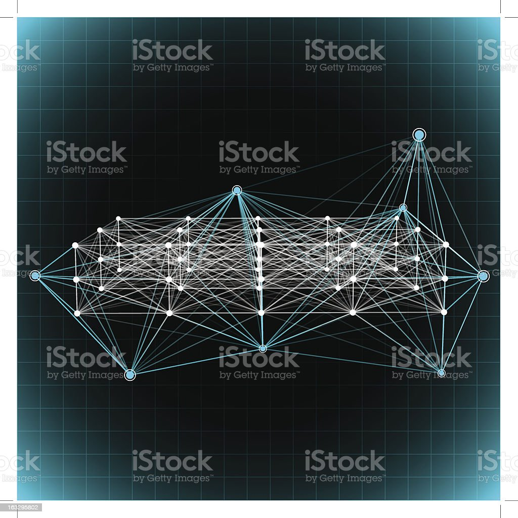 Abstract network background. royalty-free stock vector art