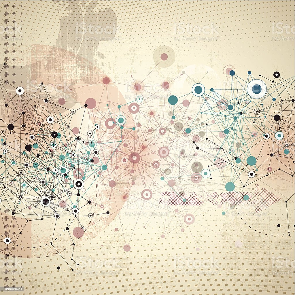 Abstract Network Background royalty-free stock vector art
