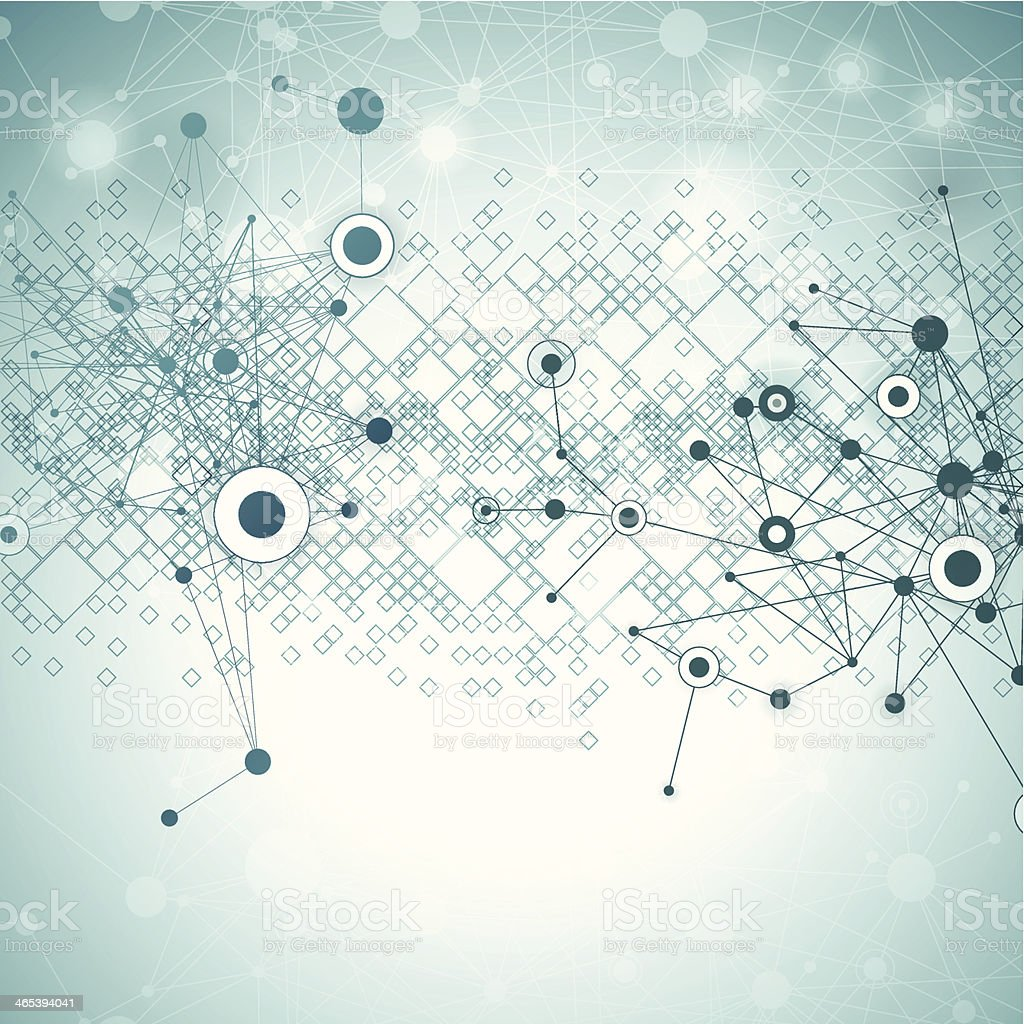 Abstract Network Background vector art illustration