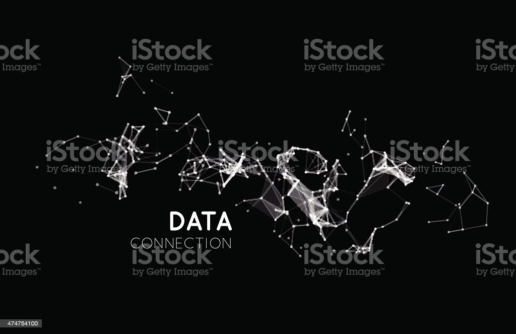 Abstract network connection background vector art illustration