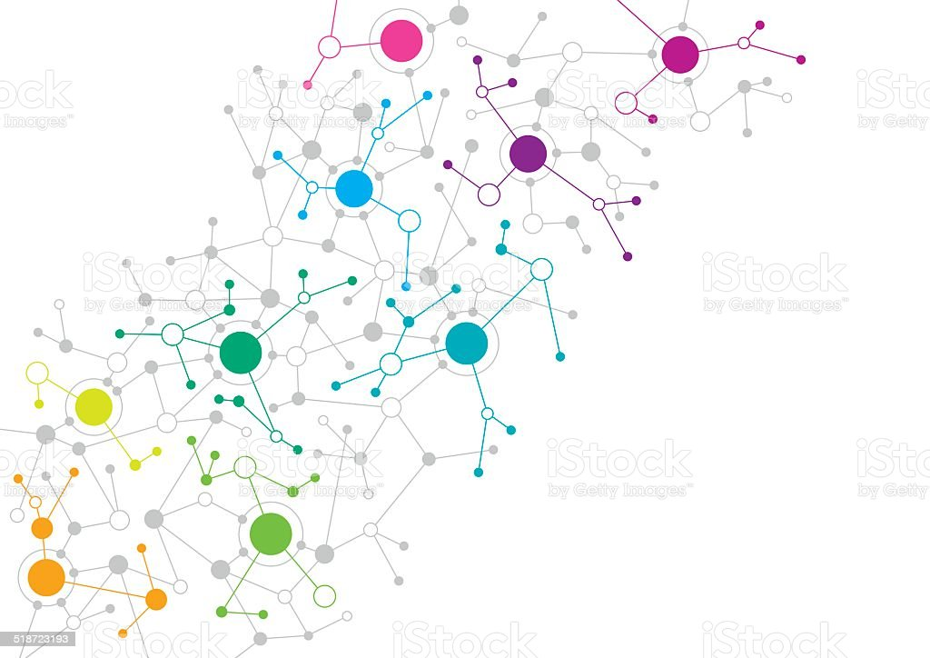 Abstract network design vector art illustration