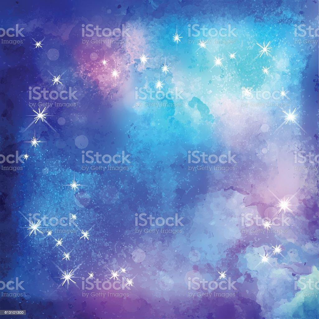 Abstract Night Background vector art illustration