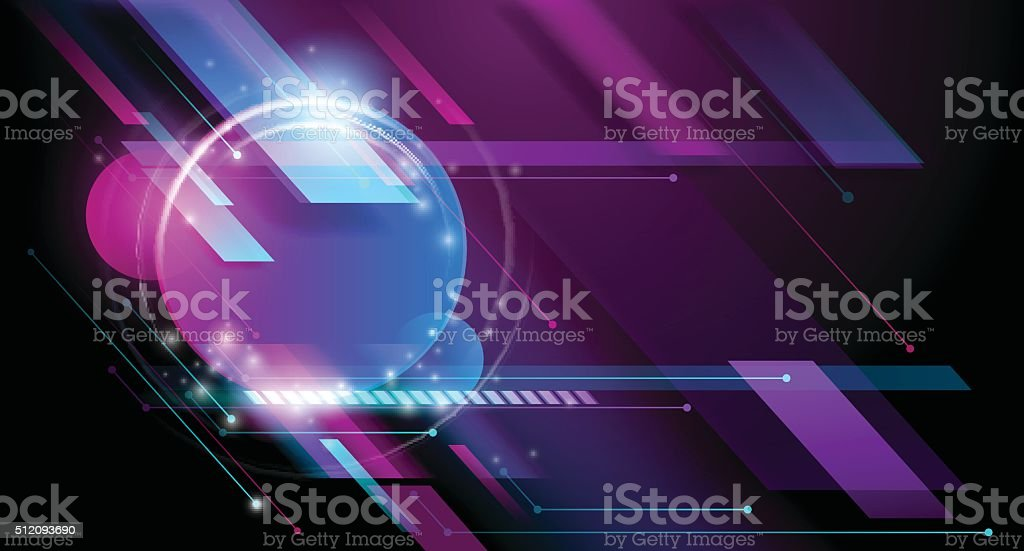Abstract night club background vector art illustration