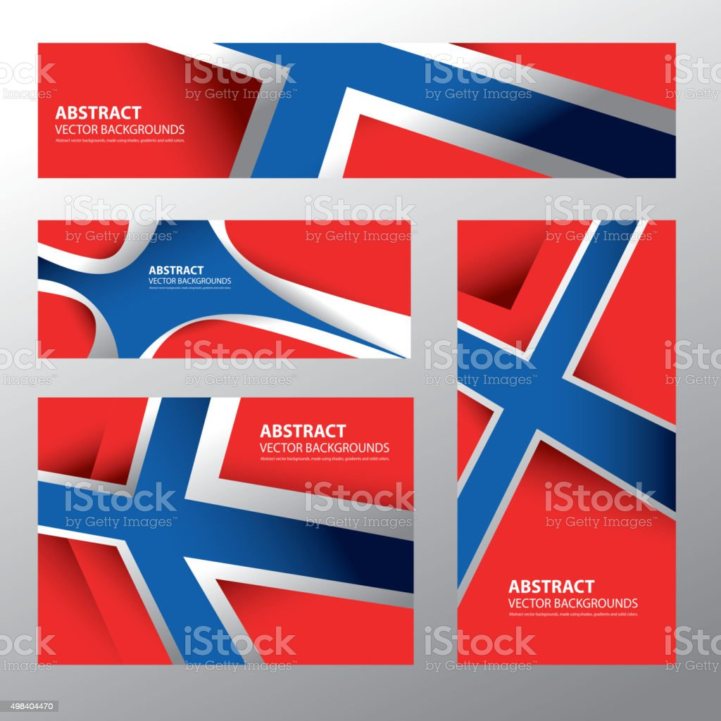 Abstract Norway Flag, Norwegian Colors (Vector Art) vector art illustration