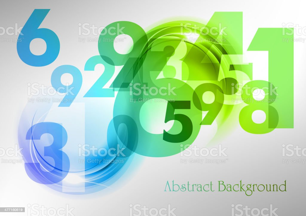 abstract numbers royalty-free stock vector art