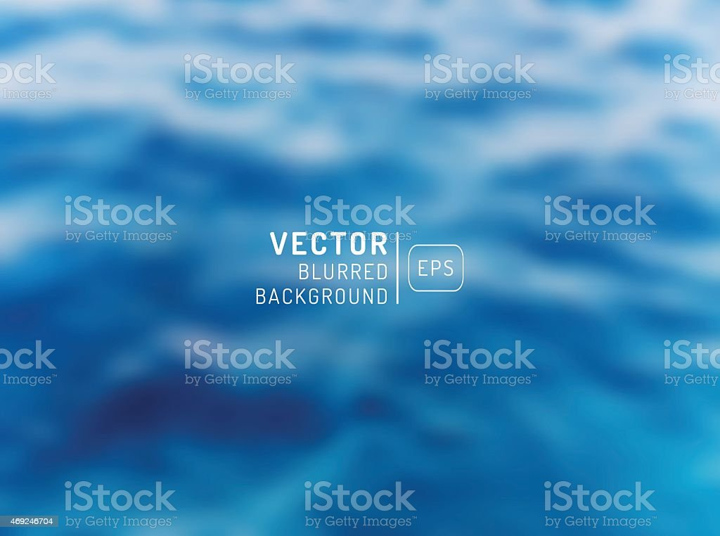 Abstract ocean seascape with blurred background vector art illustration