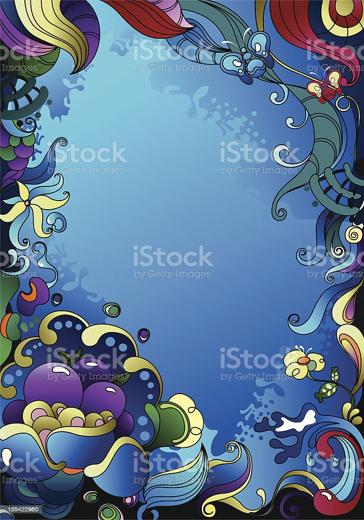 abstract of ocean royalty-free stock vector art