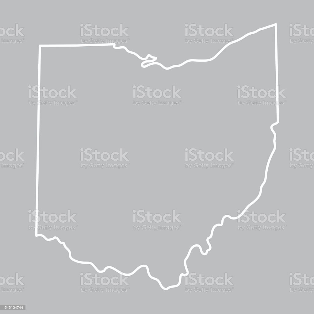 abstract Ohio map vector art illustration