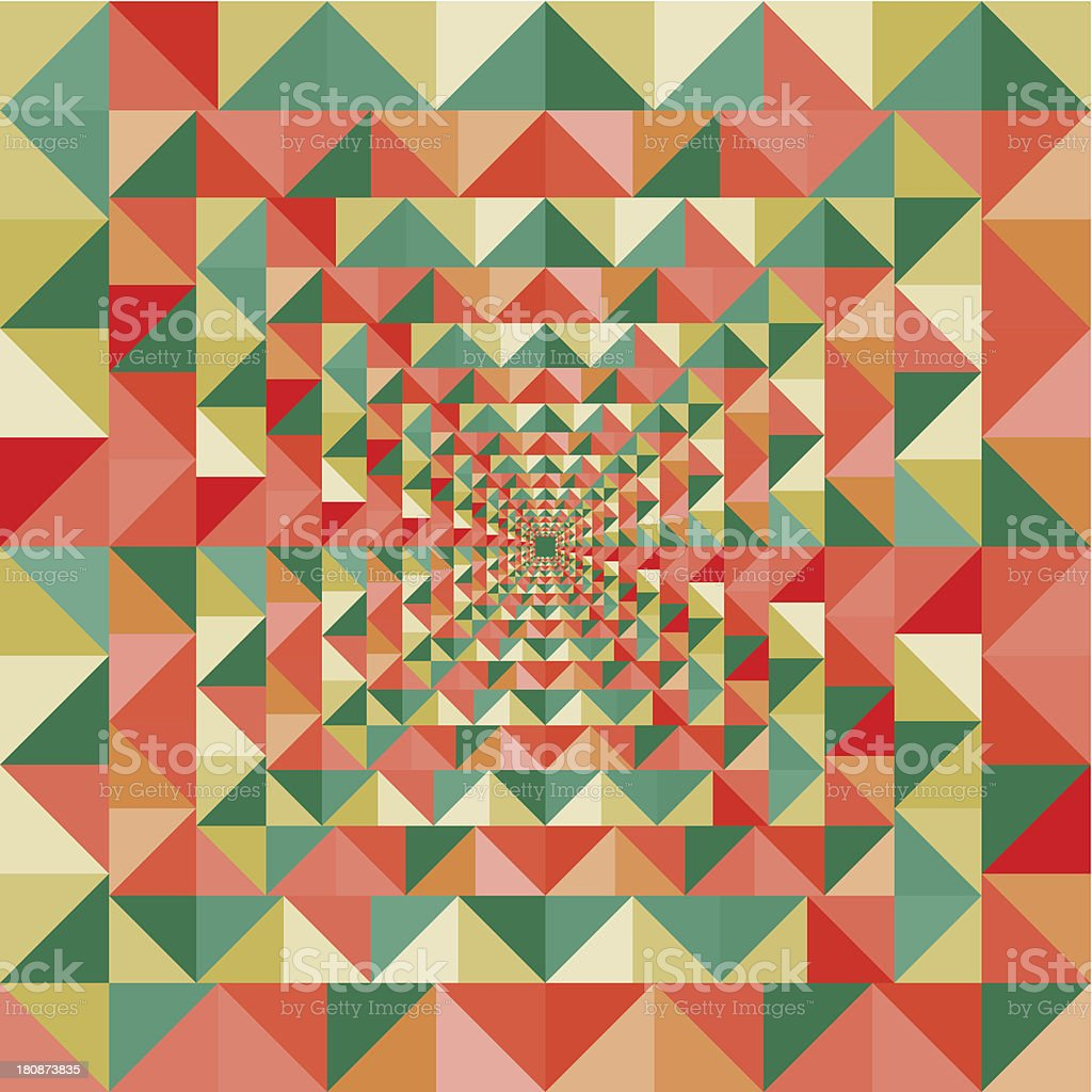 Abstract optic effect colorful triangle seamless pattern background. royalty-free stock vector art