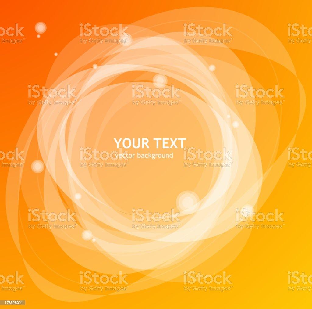 Abstract orange background vector art illustration