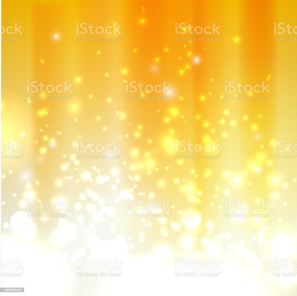 abstract orange background with sparkles royalty-free stock vector art