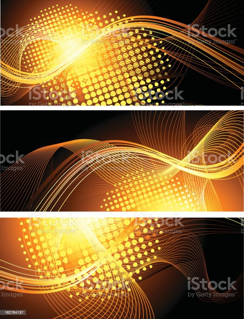 Abstract orange banners vector art illustration