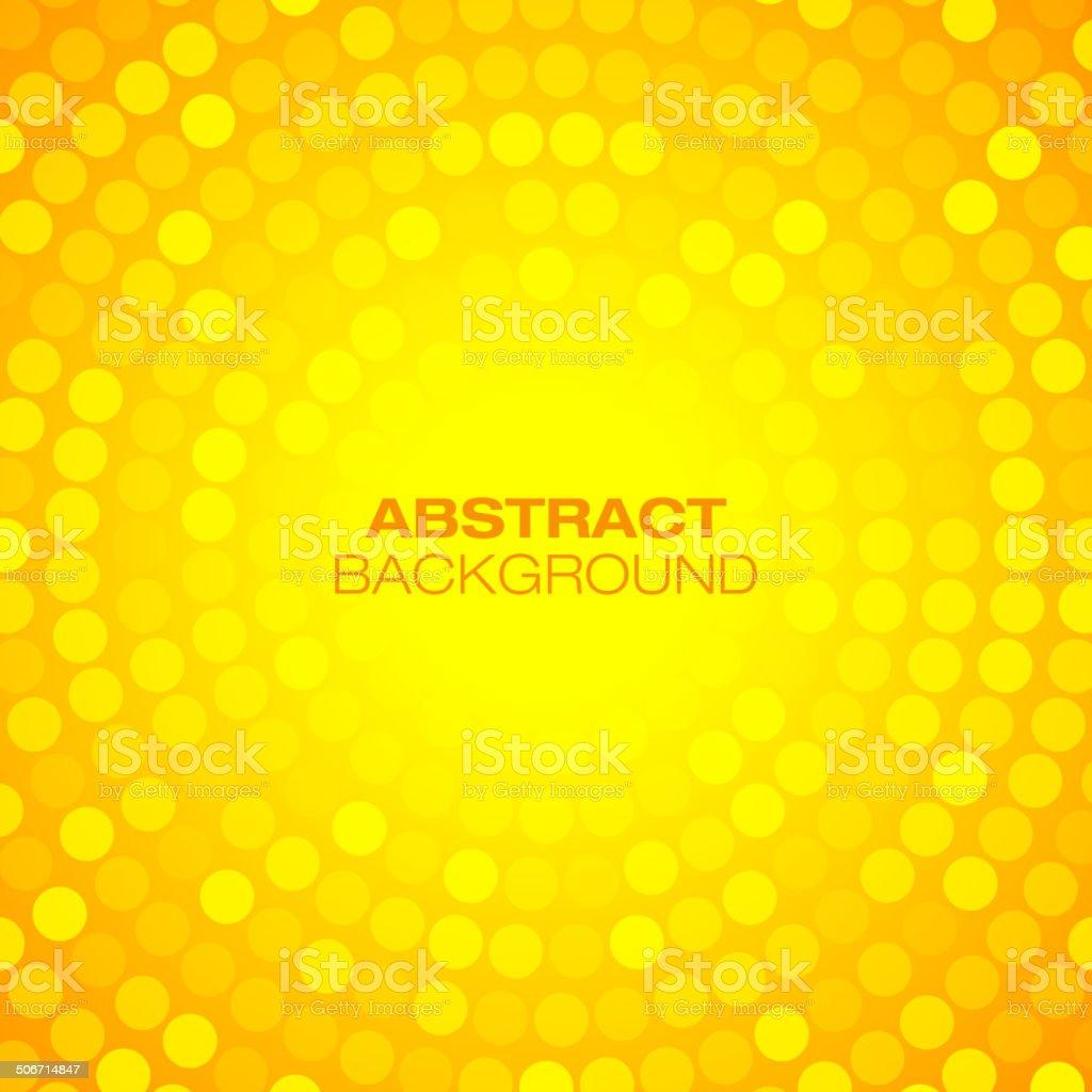 Abstract Orange Circular Technology Background, vector art illustration