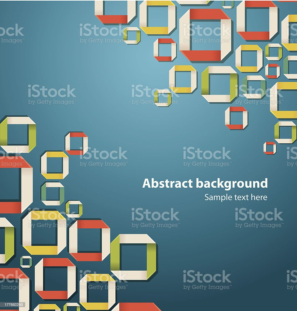 Abstract origami background vector art illustration