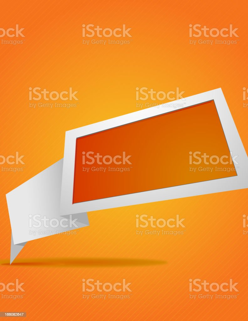 Abstract Origami Banner royalty-free stock vector art