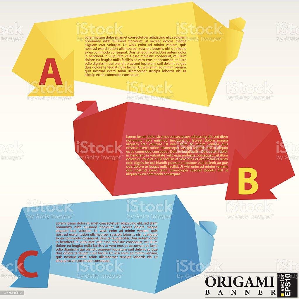 Abstract origami banner. vector art illustration