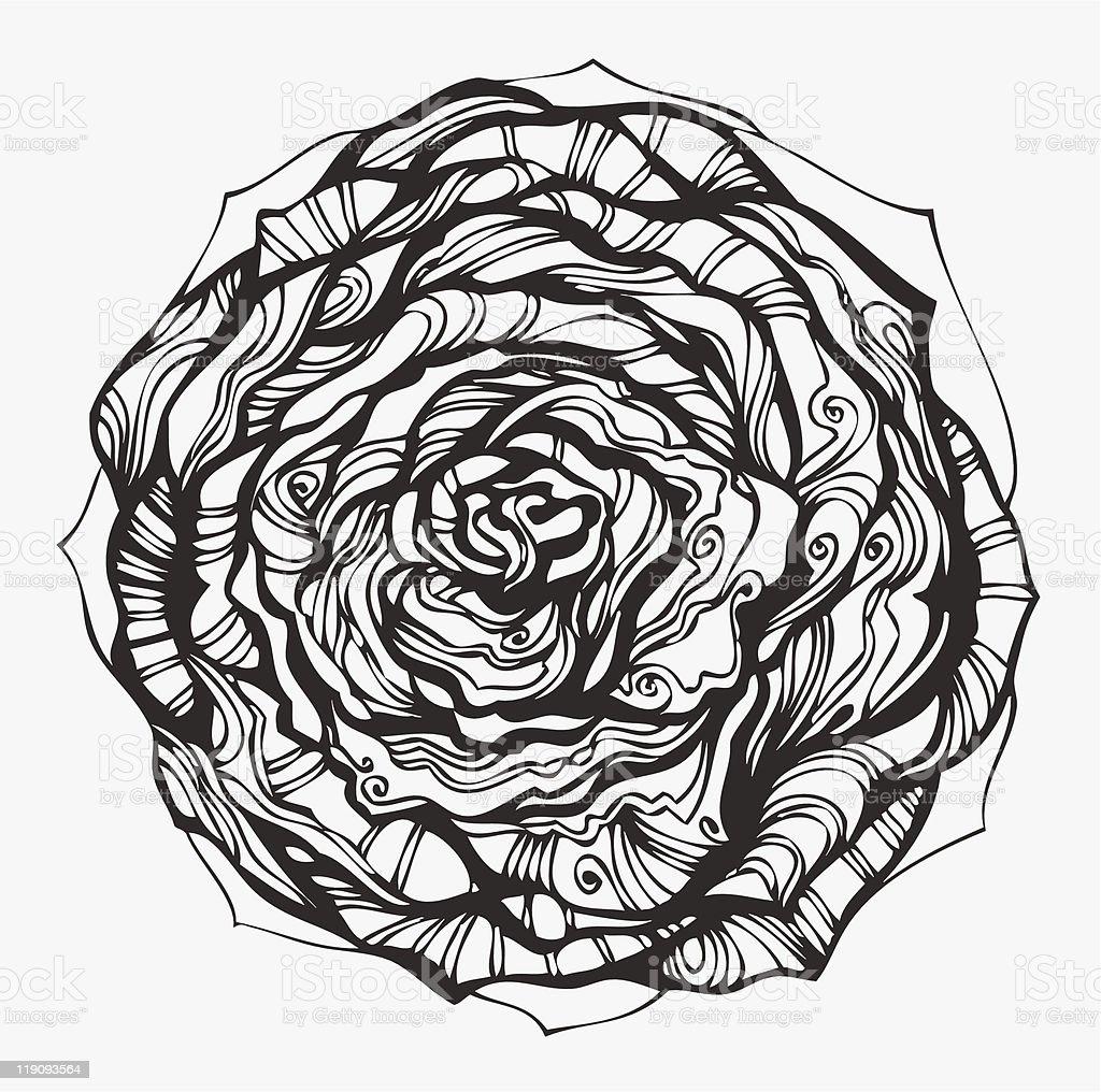 Abstract ornamental rose royalty-free stock vector art