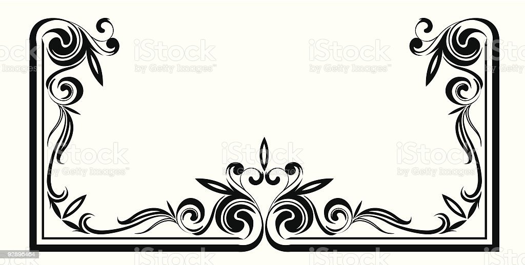 Abstract ornate design royalty-free stock vector art