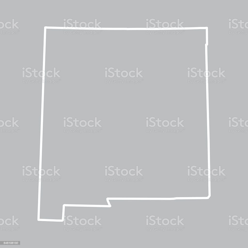 abstract outline of New Mexico map vector art illustration