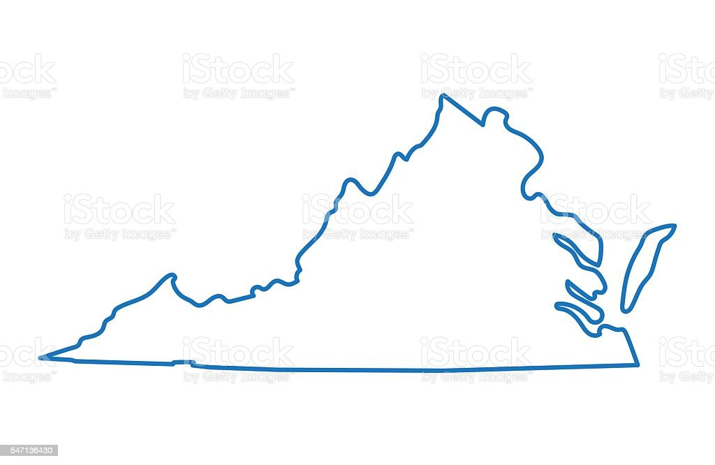 Virginia State Outline Stock Images, Royalty-Free Images ...