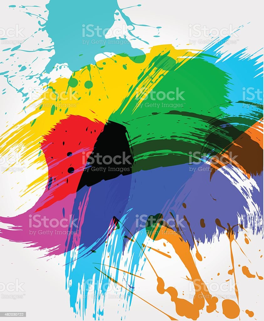 Abstract paint background vector art illustration
