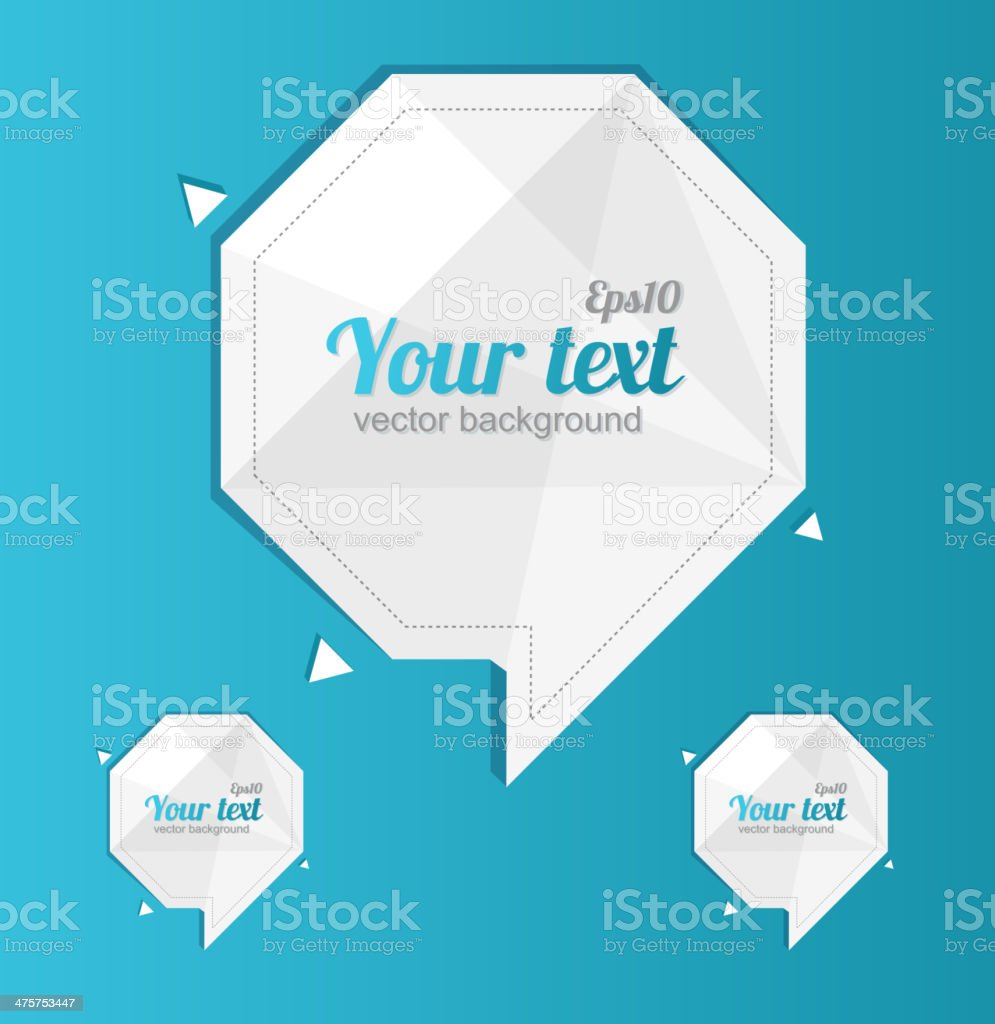 Abstract paper design text template. 1 2 3 concept royalty-free stock vector art