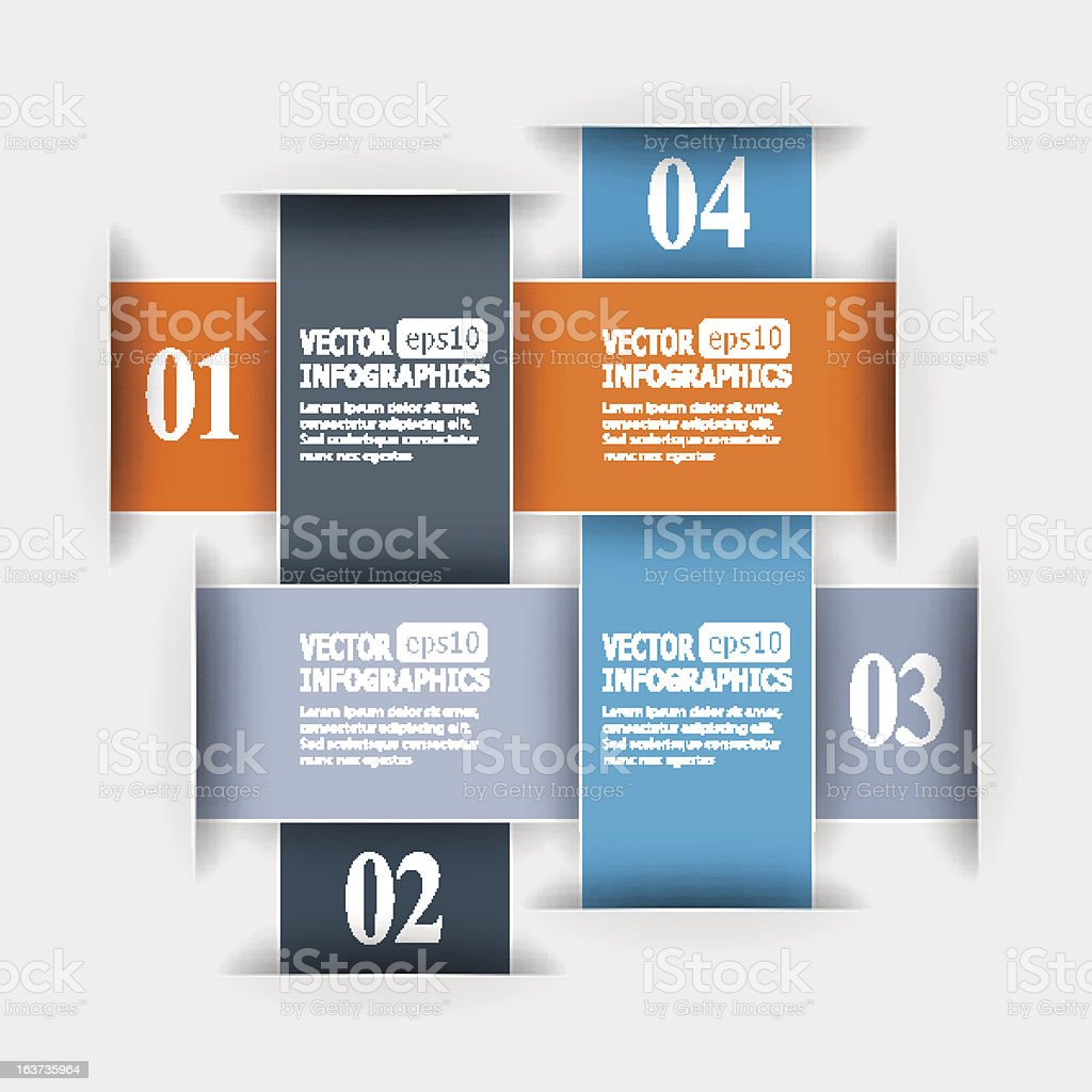 Abstract paper infografics royalty-free stock vector art