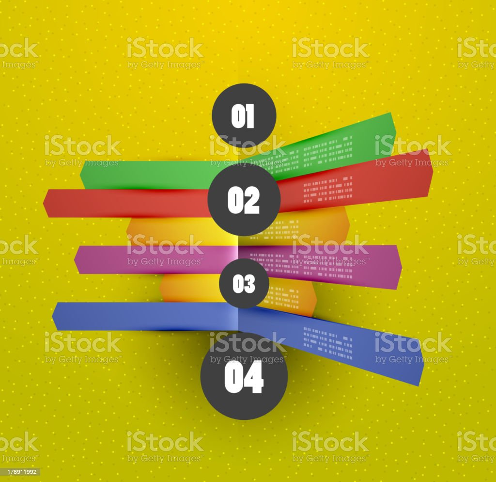 Abstract paper infographic design royalty-free stock vector art