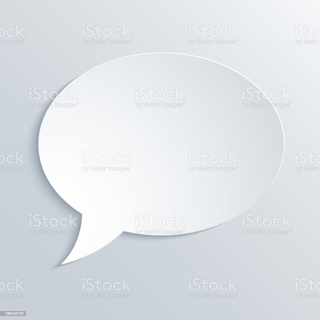 Abstract Paper Speech Bubble Background royalty-free stock vector art