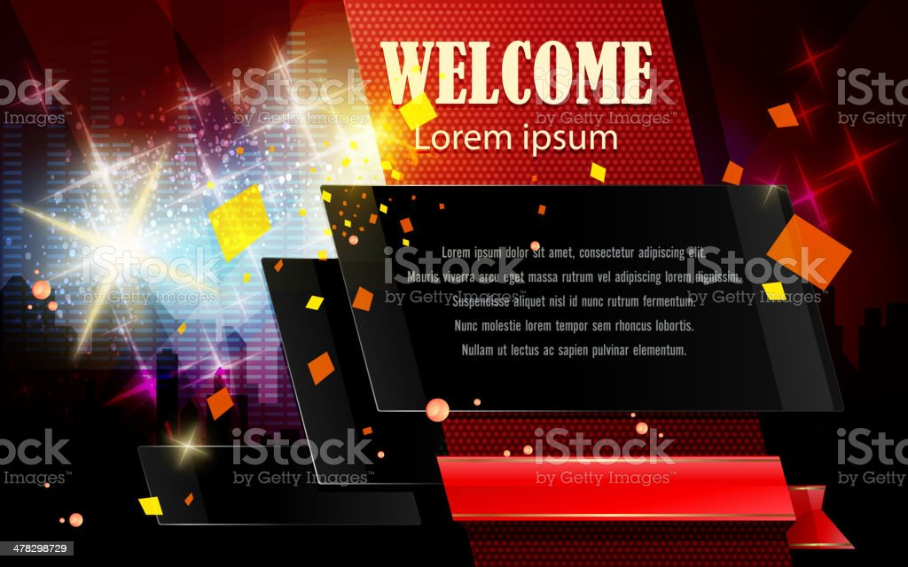 Abstract Party Background with Copy space royalty-free stock vector art