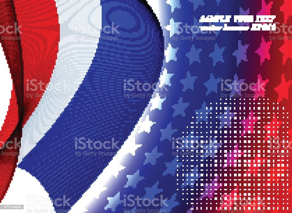 Abstract patriotic background vector art illustration