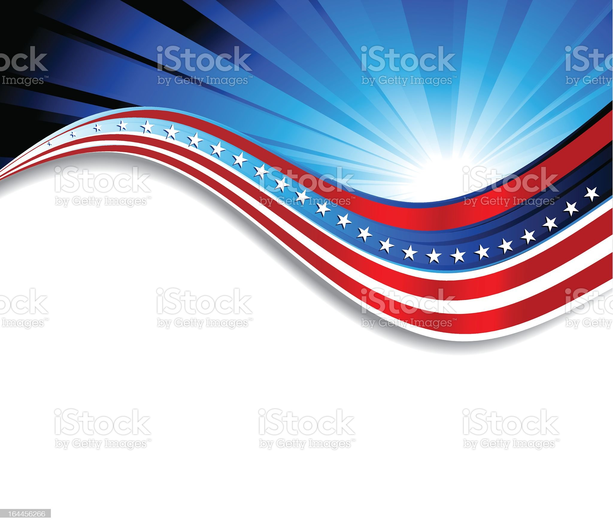 Abstract patriotic flag background royalty-free stock vector art