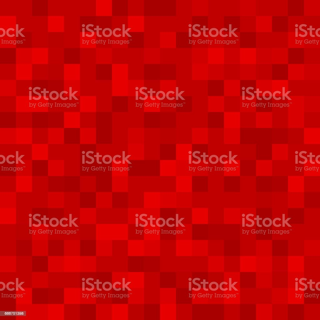Abstract pattern, background of red monotonous squares in the same color palette for web sites. Flat style. Dark illustration. wallpaper. Mosaic vector art illustration