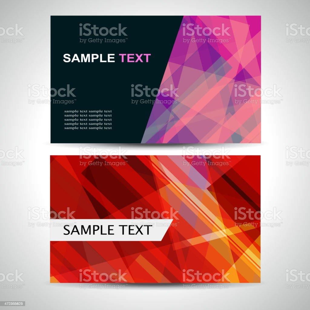 abstract pattern banner card for design vector art illustration