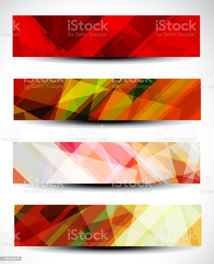 abstract pattern banner for design royalty-free stock vector art
