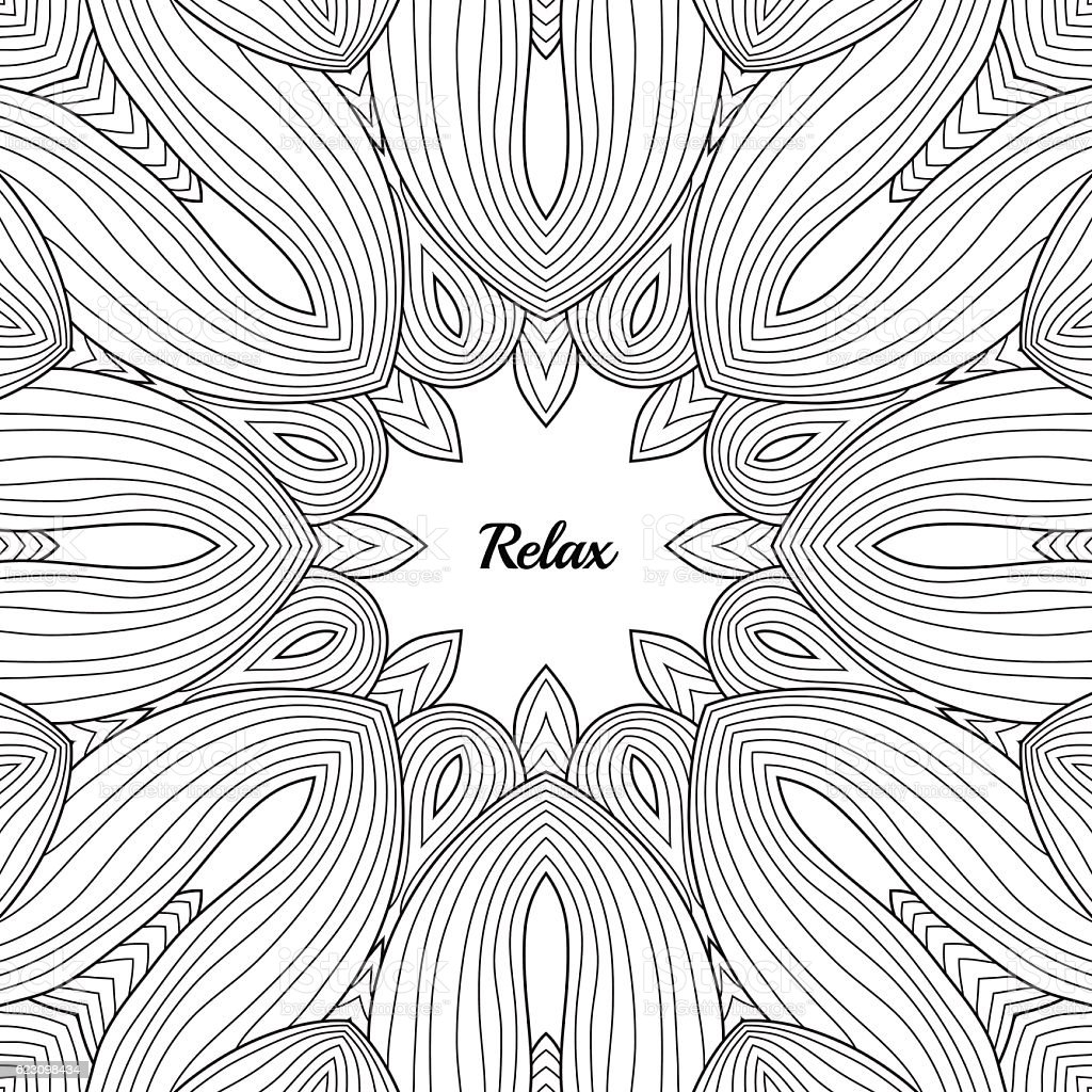 Anti stress colouring book free - Abstract Pattern For Adult Anti Stress Coloring Book Page Royalty Free Stock Vector Art