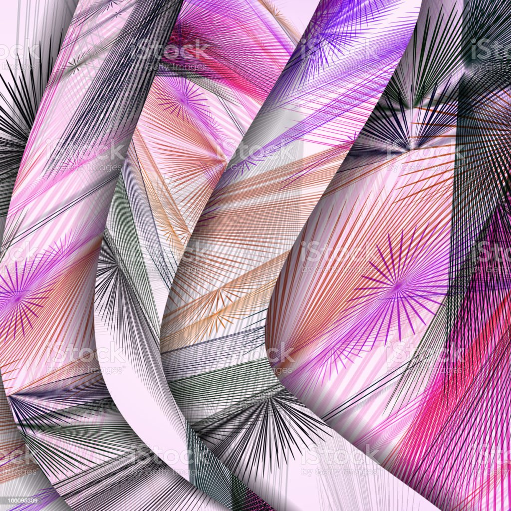 Abstract pattern of lines. royalty-free stock vector art