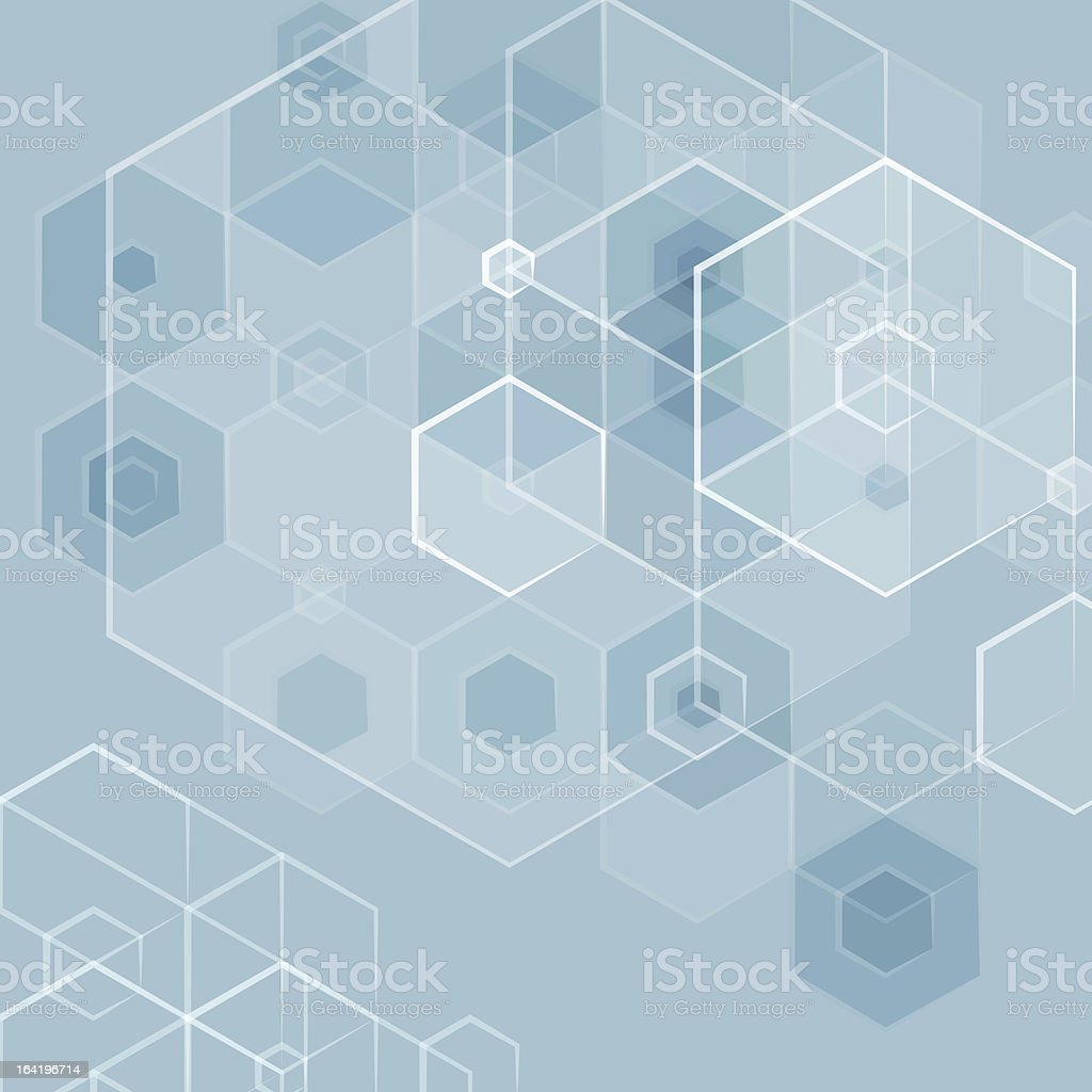 Abstract pentagon blue vector background royalty-free stock vector art