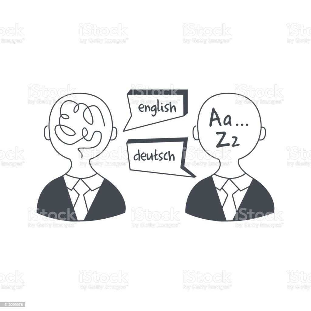 Abstract People Speaking Different Languages vector art illustration