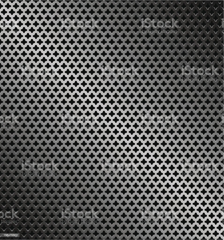 Abstract perforated metallic dark background royalty-free stock vector art