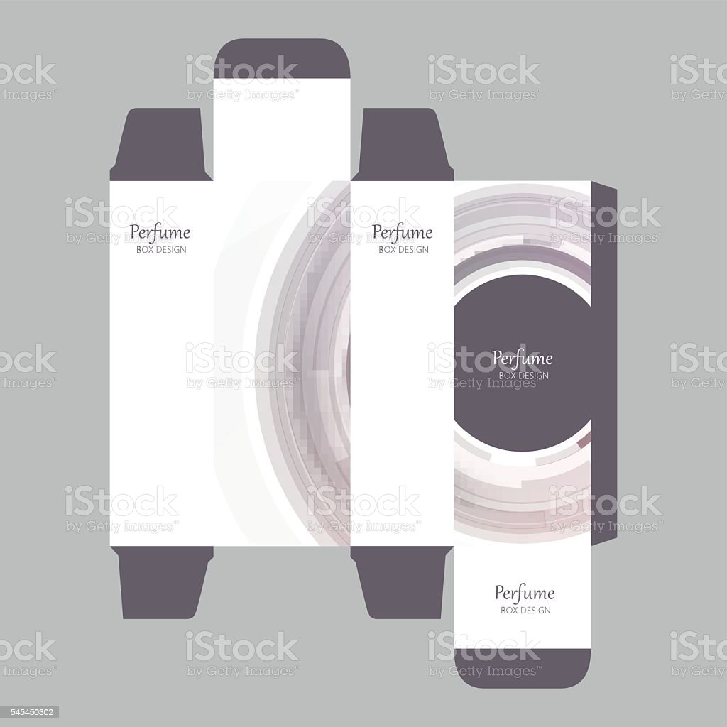 Abstract Perfume Box Design vector art illustration