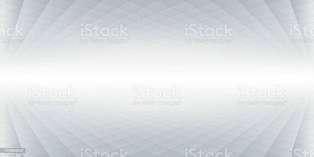 Abstract perspective banner, background vector art illustration