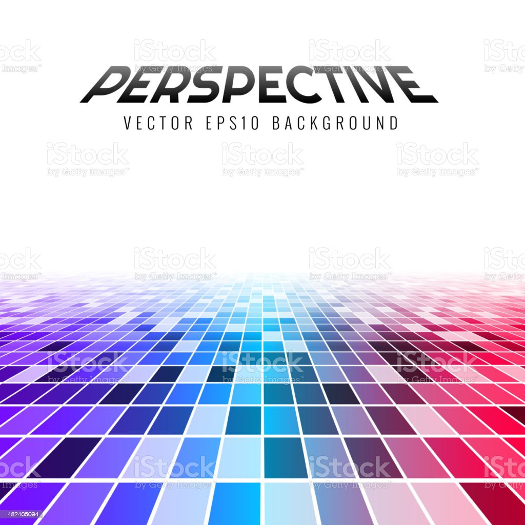 Abstract perspective tiles vector art illustration