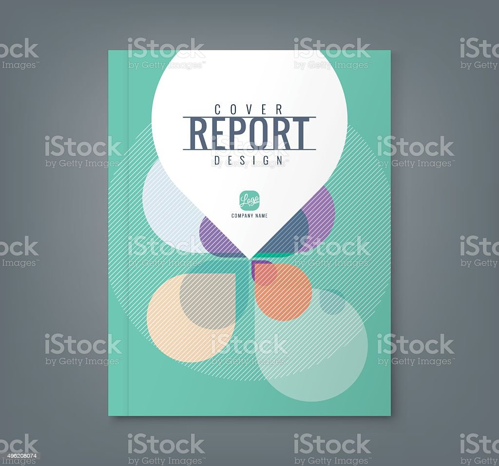 Abstract Petal shape background for business report book cover poster vector art illustration