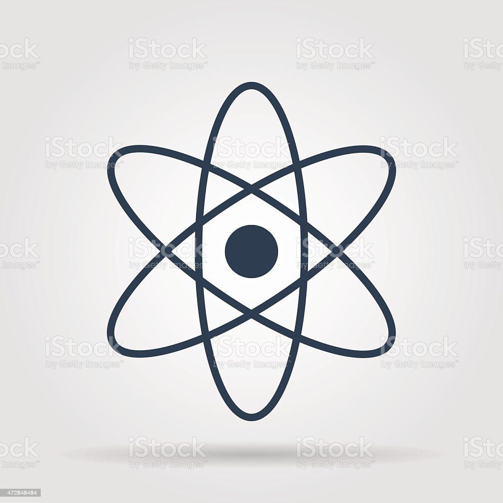 abstract physics science model icon, vector illustration. Flat design style vector art illustration