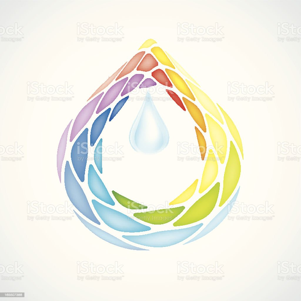 Abstract Pieces of Water Drops royalty-free stock vector art