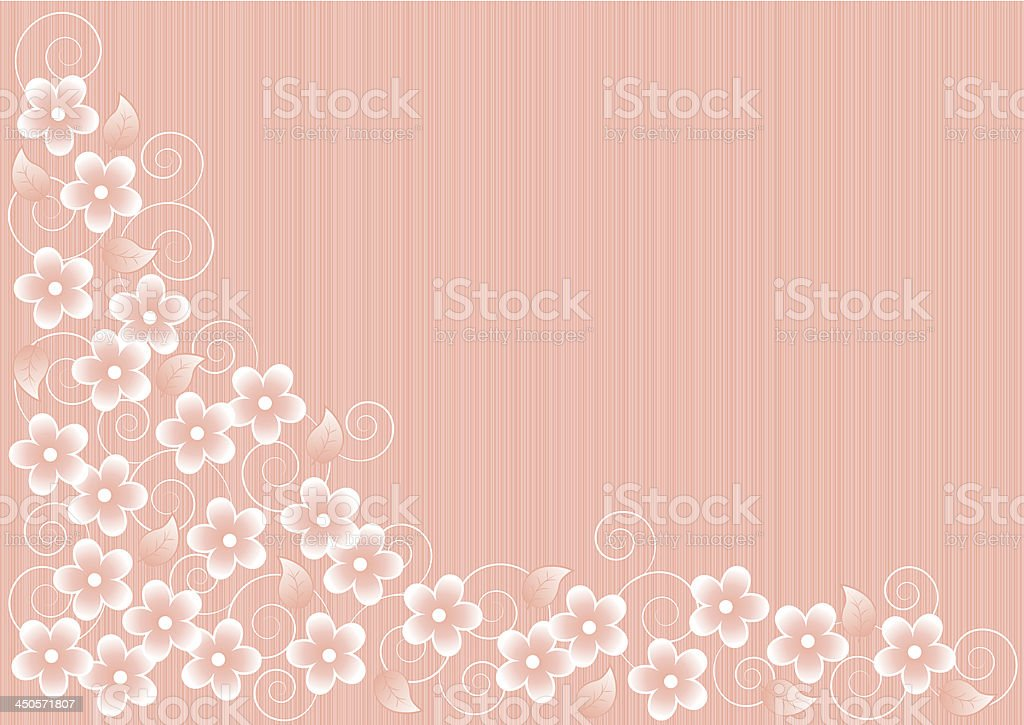 Abstract Pink Background with Flowers royalty-free stock vector art