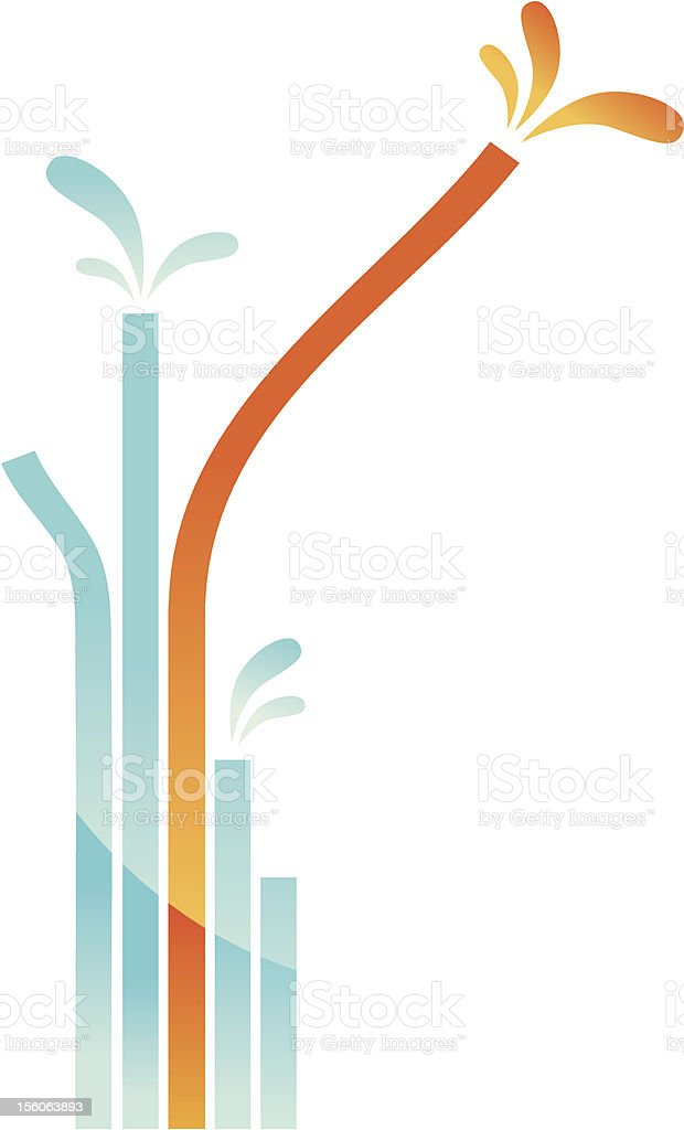 abstract pipes royalty-free stock vector art